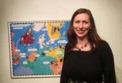 Klára Smolíková, autorka výstavy Komenský v komiksu