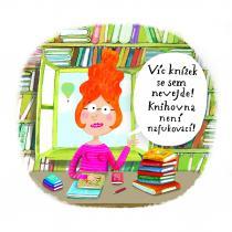 Ilustrace Báry Buchalové z knihy Kláry Smolíkové Knihožrouti: Kam zmizela školní knihovna?