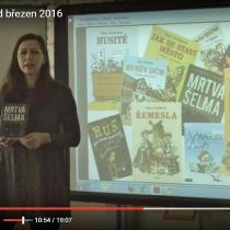 Klára Smolíková a její beseda s prvňáčky v březnovém videozpravodaji města Vyšší Brod