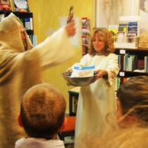 Horác a Pedro v zemi Bójů křest v táborském knihkupectví Primus