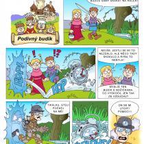 Na hradě Bradě - příběh Podivný budík - 1. strana