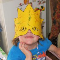 Hračky a masky z papíru - maska hvězdy