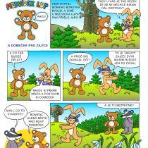 Ukázkový komiks z knihy Medvídek Lup a jeho kamarádi 1. část