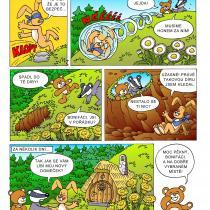 Ukázkový komiks z knihy Medvídek Lup a jeho kamarádi 2. část