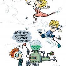Ilustrace Luďka Bárty z knihy Vynálezce Alva 2