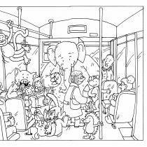Dej pozor, zajíci! pracovní list v tramvaji