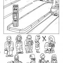 Dej pozor, zajíci! pracovní list tramvajová zastávka