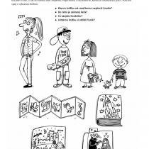 Ukázka pracovního listu z knihy Zakousněte se do knihy, text Klára Smolíková, ilustrace Bára Buchalová